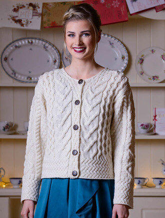 Aran Cable Knit Cardigan