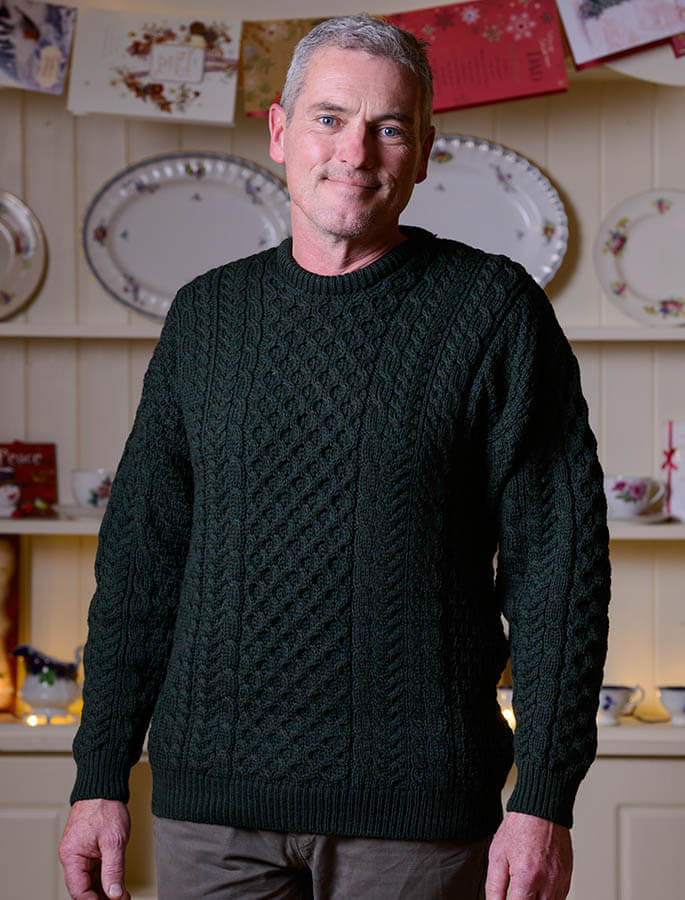 Men's Merino Aran Sweater