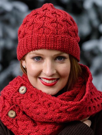 Merino Wool Cable Knit Hat