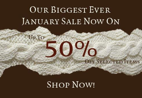 Our biggest ever January Sale now on. 50% Off selected items